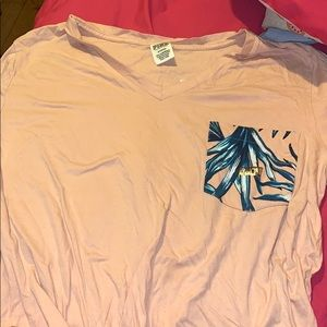 VICTORIAS SECRET GRAPHIC POCKET TEE WITH SEQUINS